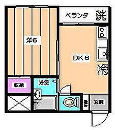 東京都杉並区下井草1丁目の賃貸マンションの間取り
