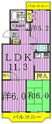 ジャスティス壱番館・弐番館[4階]の間取り