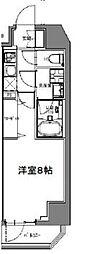 S-RESIDENCE大森山王 10階1Kの間取り
