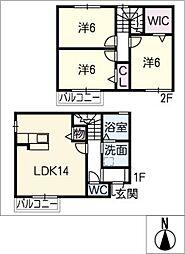 [一戸建] 三重県四日市市別山2丁目 の賃貸【/】の間取り