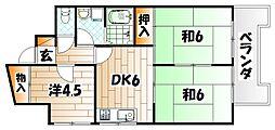 第9岡部ビル[9階]の間取り