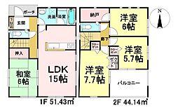 クレイドルガーデン 石巻市貞山第5 5号棟 新戸