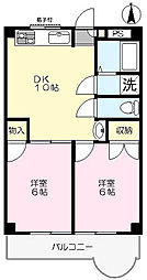 サンクラスター三郷[4階]の間取り