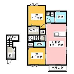 チェーロ セレーナ A棟[2階]の間取り