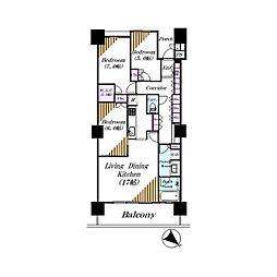 シティタワー品川 東棟 36階3LDKの間取り
