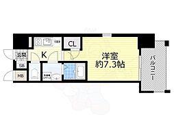 JR東海道・山陽本線 岸辺駅 徒歩5分の賃貸マンション 6階1Kの間取り