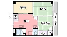 ブルースカイマンション[502号室]の間取り