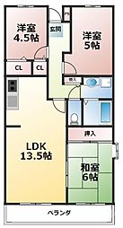 MIII TAKAI[2階]の間取り