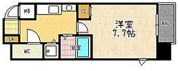 サムティ京都駅前[1001号室]の間取り