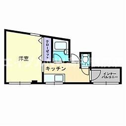 宮脇第15マンション[4階]の間取り