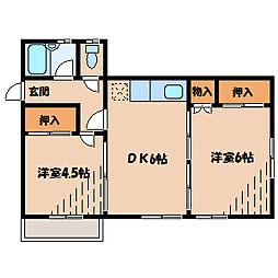 ベル町田[2階]の間取り