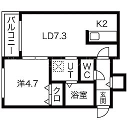 GARE24K[3階]の間取り
