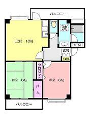 グランボヌール青葉台[3階]の間取り