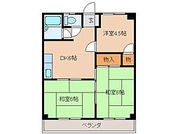 エイトマンション[4階]の間取り