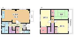 [テラスハウス] 大阪府豊中市向丘2丁目 の賃貸【/】の間取り