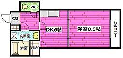 広島県安芸郡坂町横浜中央1丁目の賃貸マンションの間取り