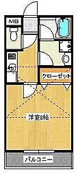 小雀レジデンス[207号室]の間取り