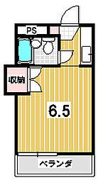 ハイツ茶山[102号室]の間取り