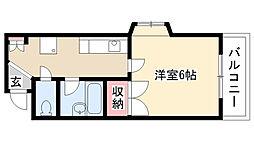 マイハウス1[3B号室]の間取り