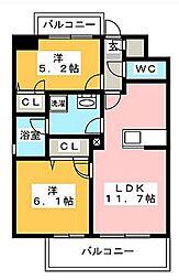 アイサフィール博多駅東[5階]の間取り