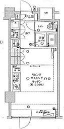 フィース神楽坂(家賃下がりました)[地下1階002号室号室]の間取り
