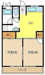 愛知県名古屋市天白区元植田1丁目の賃貸マンションの間取り