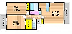 (仮)D−room白石西新町A棟[1階]の間取り