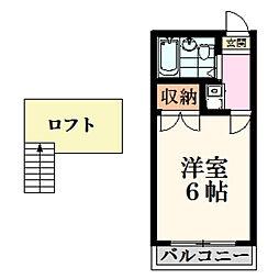 橘ハイツ桜ヶ丘1階Fの間取り画像