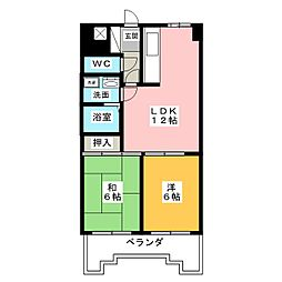 シティーファミール千種 1104号室[11階]の間取り