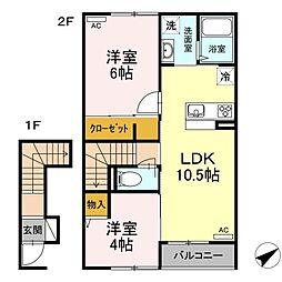 (仮称)D-room松江市古志原2丁目[205号室]の間取り