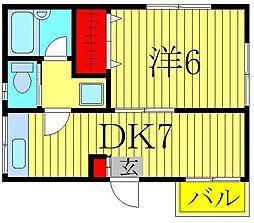 メゾンアイリスC[2階]の間取り