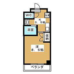 サンシード桃山[4階]の間取り