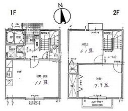 パルティールC棟[1階]の間取り