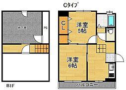 東加賀屋マンション[1階]の間取り
