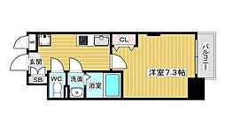 Luxe新大阪V 11階1Kの間取り