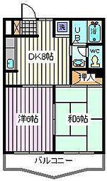 埼玉県さいたま市桜区西堀6丁目の賃貸アパートの間取り