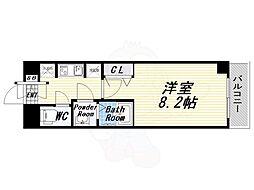 Osaka Metro千日前線 玉川駅 徒歩4分の賃貸マンション 6階1Kの間取り
