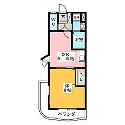 静岡県駿東郡長泉町桜堤2丁目の賃貸マンションの間取り