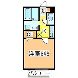 広島県東広島市八本松町飯田の賃貸アパートの間取り