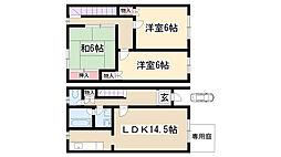[テラスハウス] 愛知県名古屋市名東区猪高台1丁目 の賃貸【/】の間取り