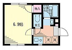 山手ヒルサイド[2階]の間取り
