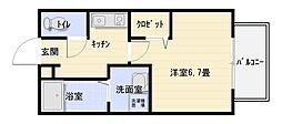 大阪府八尾市南本町5の賃貸アパートの間取り