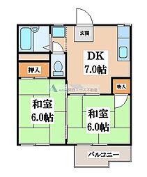 メゾンファミール[2階]の間取り