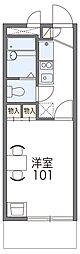 JR片町線(学研都市線) 忍ヶ丘駅 徒歩7分の賃貸マンション 1階1Kの間取り
