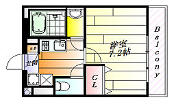 AMAGASAKI Modern Height 1階1Kの間取り
