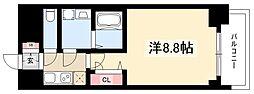プレサンス錦通THE葵 6階1Kの間取り
