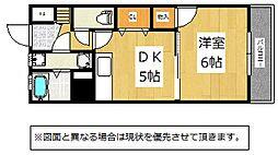 福岡県北九州市小倉北区下到津5丁目の賃貸マンションの間取り