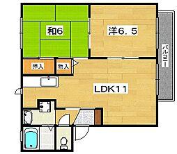 サンスクエア[2階]の間取り