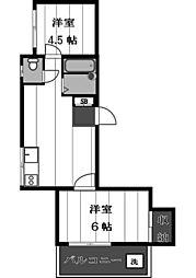 ツインタワーズイン[3階]の間取り