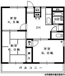 エレガンス[3階]の間取り